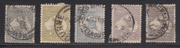 Australia 1915 Cancelled, Wmk 6, Sc# ,SG 35,37,38,39,41 - Used Stamps