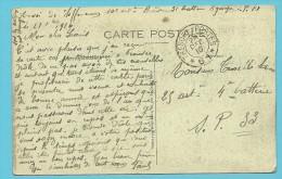 Kaart (YPRES) Met Stempel TRESOR ET POSTES Op 28/12/1916 - Not Occupied Zone