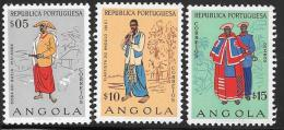 Angola, Scott # 395-7 MNH Costumes, 1957 - Africa (Other)