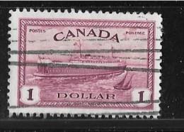 CANADA  1946,  #273,  KING GEORGE V1 PEACE ISSUE: TRAIN FERRY: PEI ,   Bateau Traversier     USED NH - 1937-1952 Règne De George VI
