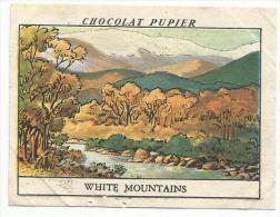 CHROMOS PUPIER - AMERIQUE DU NORD - USA - WHITE MOUNTAINS. - Chocolat
