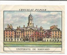 CHROMOS PUPIER - AMERIQUE DU NORD - USA - UNIVERSITE DE HARVARD. - Chocolat