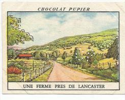 CHROMOS PUPIER - AMERIQUE DU NORD - USA - PENNSYLVANIE, UNE FERME PRES DE LANCASTER. - Chocolat