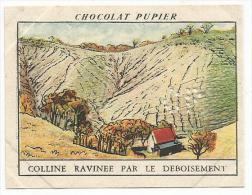CHROMOS PUPIER - AMERIQUE DU NORD - USA - TENNESSEE, COLLINE RAVINEE PAR LE DEBOISEMENT. - Chocolat