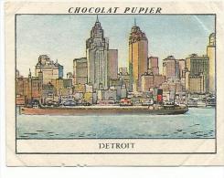 CHROMOS PUPIER - AMERIQUE DU NORD - USA - WISCONSIN, RENARDS ARGENTES. - Chocolat