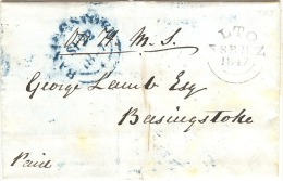 Great Britain, Sep 21th 1847 Letter From ALTON To BASINGSTOKE - Cartas