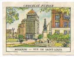 CHROMOS PUPIER - AMERIQUE DU NORD - USA - MISSOURI, VUE DE SAINT LOUIS. - Chocolat