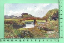 BAD ELSTER: Elsterbrücke Am Unterlauf, Chromo - Bad Elster