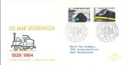 Netherlands, 1964 NVPH E65 NVPH 818-819 Mi 824-825 - FDC
