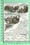 HOHENSTEIN: Gruss, Lithographie Multi-vues - Hohenstein-Ernstthal