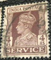 India 1939 King George VI Service 4a - Used - India (...-1947)