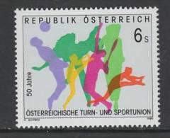 TIMBRE NEUF D´AUTRICHE - CINQUANTIEME ANNIVERSAIRE DE L´UNION DU SPORT ET DE LA GYMNASTIQUE N° Y&T 1976 - Stamps