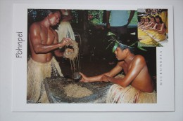 Micronesia Pohnpei Native  - Local Food  - Old Postcard - Micronésie