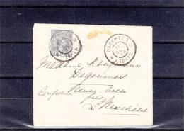 Pays Bas - Lettre De 1896 - Oblitération Deventer - Expédié Vers La Suisse - - Periode 1891-1948 (Wilhelmina)