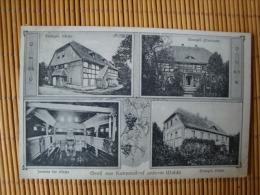 Gruss Aus Kunzendorf Unt. Walde Kr. Löwenberg, Schl.,Schule, Kirche, Pfarrhaus, Gelaufen 1925 ! - Schlesien