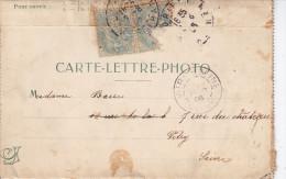 LORIENT - Carte Lettre - Photo (ALG - C699) Pas Courant - Document Ancien Lettre + 4 Vues De Lorient -Détail Ci-dessous - Lorient