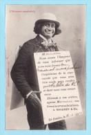 SAINT SAULVE 1904 -- Ets A. RAVERDY & Cie -- L'Homme Sandwich -- Carte Réponse Pour Commande -- Dos Non Divisé - France