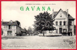 95 FONTENAY-en-PARISIS - La Place De La Mairie - Autres Communes