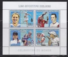 Congo 2006  Les Sportifs Belges   M/s PERFORATED  ** Mnh (26941A) - República Democrática Del Congo (1997 - ...)