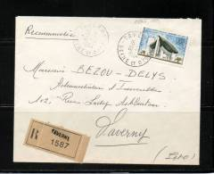 LETTRE Recommandée    N° 1394A   Oblitération   10/10/1964  TAVERNY Pour TAVERNY - Marcophilie (Lettres)