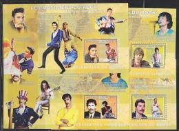 Congo 2006 Les Musiciens Du Rock 4 M/s PERFORATED ** Mnh (F4966) - Democratische Republiek Congo (1997 - ...)