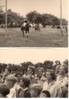 Photo Originale Sport - Equitation - Sport équestre à Identifier Avec Public Sous Tension - Acrobatie - Cheval - 2 Photo - Sports