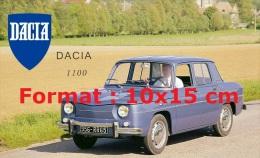 Reproduction D'une Photographie D'une Affiche Publicitaire Pour DACIA 1100 - Repro's