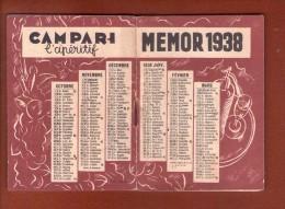 Calendrier Memor 1938 Campari - Autres