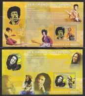 Congo 2006 Jazzmans 2 M/s PERFORATED  ** Mnh (F4968) - Democratische Republiek Congo (1997 - ...)