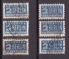 Alliierte Besetzung , Zwangszuschlagmarken , Mi.Nr. 2 AW / 2 AZ / 2 OZ / 6 Z / 8 X / 8 Z O / Used - Deutschland