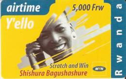 TARJETA DE RUANDA DE AIRTIME Y´ELLO DE 5000 FRW CADUCIDAD 01-12-2004 (RWANDA) - Rwanda