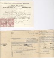 Institut De Gymnastique Médicale Léon Dupont Bruxelles Relevé De Compte Et Reçu Timbré Weissenbruch + Virement 1921 - Sports & Tourisme