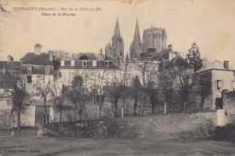 Manche Coutances. Rue De La Halle Au Blé. Place De La  Mission. Cpa - Basse-Normandie
