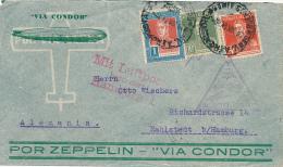 BUENOS AIRES - 1934  ,  CONDOR ZEPPELIN , 3. Südamerikafahrt  , An  6.7.34  Friedsrichshafen - Argentinien