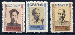 NORTH VIETNAM 1970 80th  Birthday Of Ho Chi Minh  Set Of 3 MNH / (*).  Sc. 585-87 - Vietnam