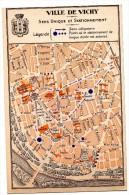 Vichy Cie Fermière Plan De Ville  Publicitaire - Vieux Papiers