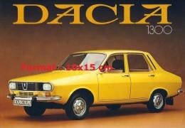 Reproduction D'une Photographie D'une Affiche Publicitaire Pour La Marque DACIA 1300 - Repro's