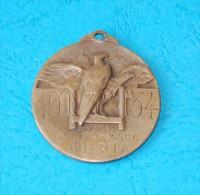 Athletics. Fascist Medal 1934 CAMP. BERGAMASCO OBERTIA - Professionnels/De Société