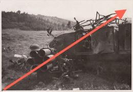 Photo Signée Grand Duché De Luxembourg Guerre 40-45 WWII Urspelt Char Tank Canon - Guerre, Militaire