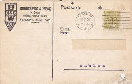 B&W Buddeberg & Weck Köln 1923 - Allemagne