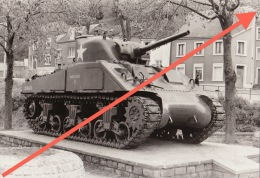 Photo Signée Grand Duché De Luxembourg Char Tank - Guerre, Militaire