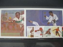 Zambia-Seoul Olympics 1988  SC#456-461 MI#464-467 BL 16-17 - Ete 1988: Séoul