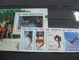 Mauritania -Calgary Winter Olympics 1988  SC#C267-271 - Ete 1988: Séoul