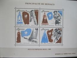 Monaco-Seoul Olympics 1988  SC#1640 MI# BL 40 - Zomer 1988: Seoel