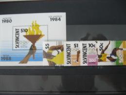 St. Vincent-Seoul Olympics 1988  SC#1116-20  MI# 1130-33 BL 60 - Summer 1988: Seoul