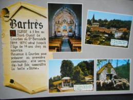"""CPDM - BARTRES """"Intérieur De L'église, Maison Lagües Aravant, Oratoire Ste Bernadette, Ste Bernadette Et Ses Brebis"""" - Autres Communes"""