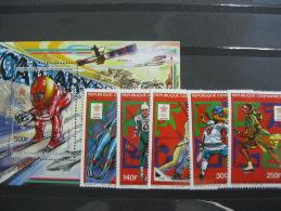 Central Africa-Calgary Winter Olympics 1988  SC#858-863 MI# 1287-1291  BL421 - Summer 1988: Seoul