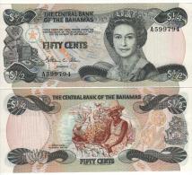 BAHAMAS   1/2 Dollar    P42a     ( 1984 )     UNC - Bahamas