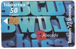 SLOVENIA SLOVENIJA PHONECARD 1998 ABECEDA ALPHABET  INTRADE  VESEL BOŽIČ IN SREČNO NOVO LETO 1999  CAT.NO. 171 - Slovénie