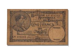 5 Francs Type Albert Et Elisabeth - [ 2] 1831-... : Belgian Kingdom